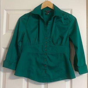 Banana Republic, Petite green blouse. 4P